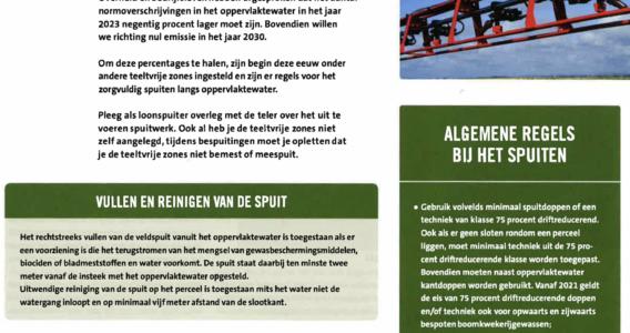 Artikel Teelt- en spuitvrije zones in Grondig